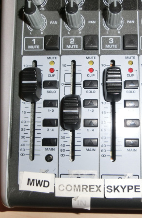 Figure 4 - Mixer Fader Settings